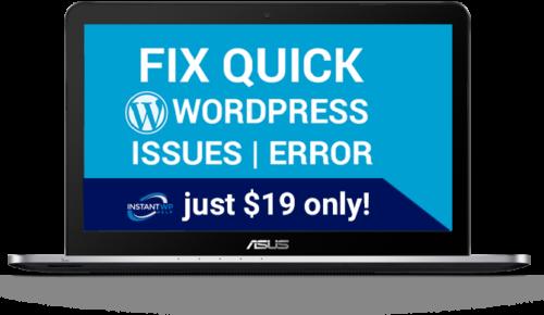 Fixed Wordpress issue